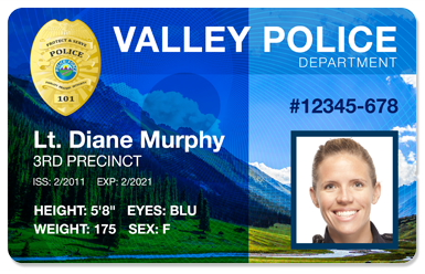 Example of a Police ID Card
