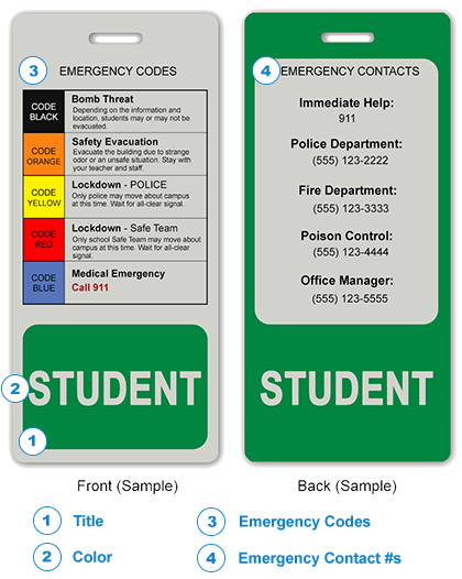 School Safety Cards