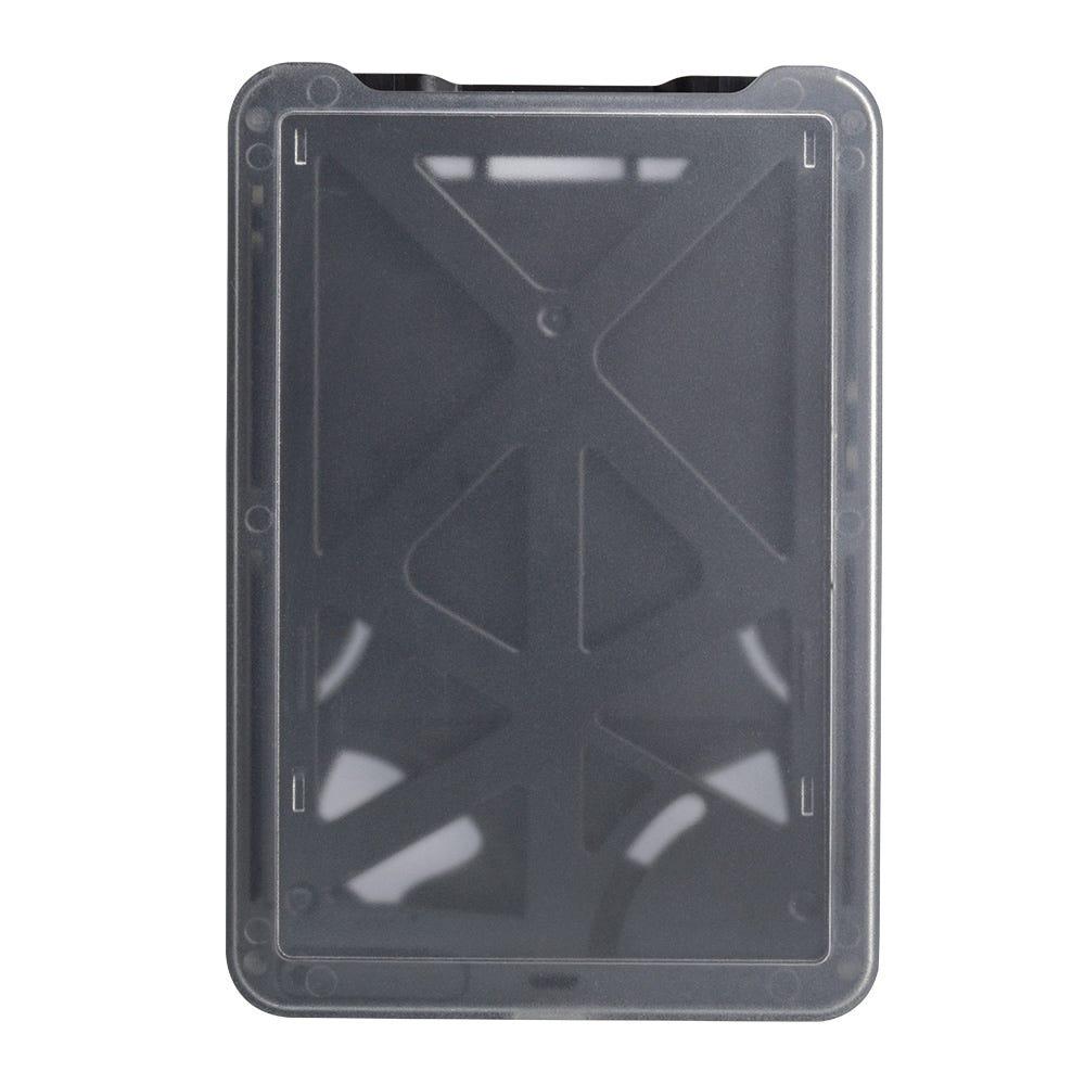 Black Multi-Card - Vertical - Frosted Rigid Badge Holder - 50 per pack