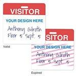 Shop Custom Clip-on ONEstep TIMEbadge Handwritten Expiring Visitor Badge - One Day