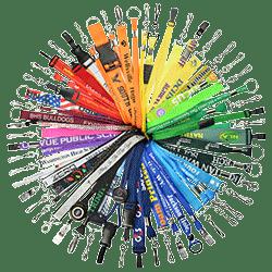 Shop Custom Color Lanyards & Badge Reels